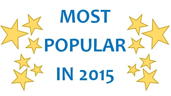 Most Popular in 2015 text in blue with yellow stars on either side
